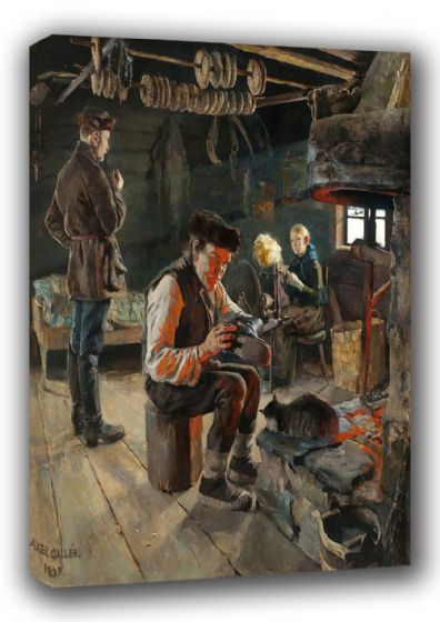 Gallen-Kallela, Akseli: Rustic Life. Fine Art Canvas. Sizes: A3/A2/A1 (00474)